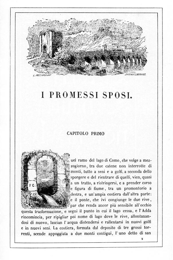 A011 Manzoni Inizio dei Promessi sposi 1840